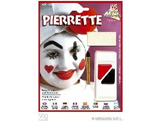 Figurás farsangi arcfesték - Pierrette bohóc