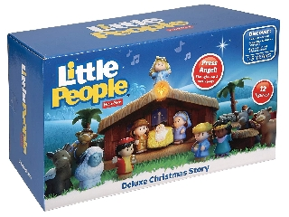 Fisher Price Little People Jézus születése, betlehemi zenélő ,világító szett