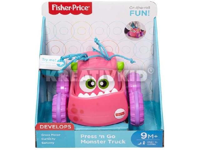 Fisher-Price - Felhúzható szörnyjárgány - Rózsaszín