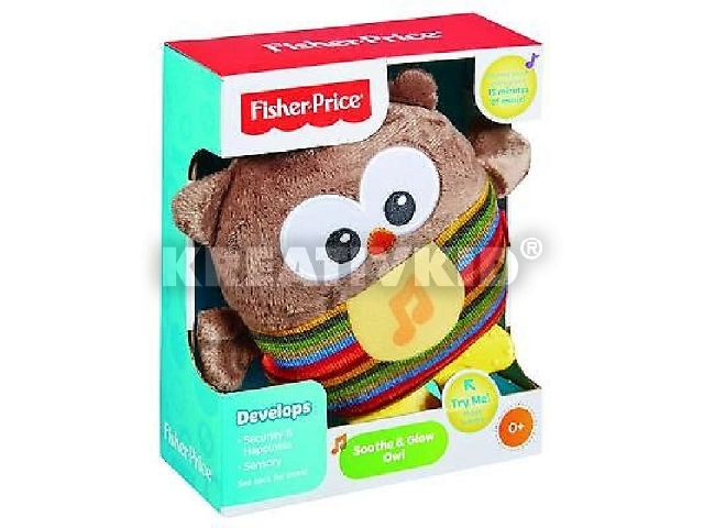 Fisher-Price - Nyugtató bagoly plüsskoma