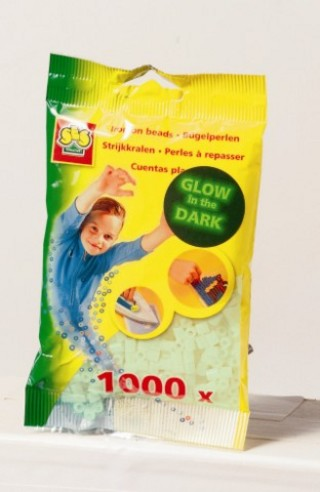 Gyöngy 1000 db fluoreszkálós kék