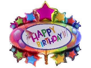 Fólia lufi 95 cm - Happy Birthday