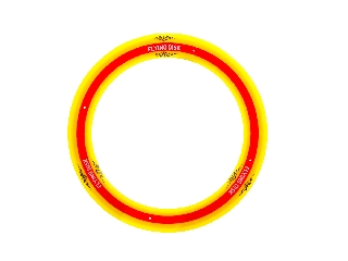 Frizbi sárga-piros