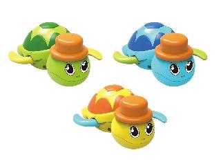 Fürdőjáték, felhúzható teknős