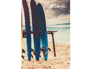 VICTORIA Nature négyzetrácsos füzet - A5, 96 lapos