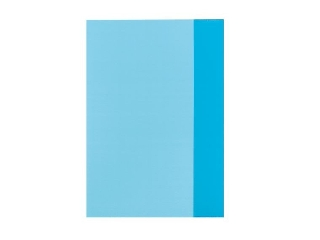 Füzetborító A4 átlátszó kék