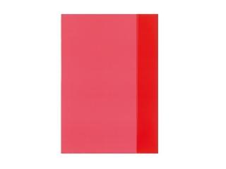 Füzetborító A4 átlátszó piros