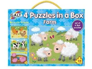 Galt - 4 puzzle egy dobozban farm