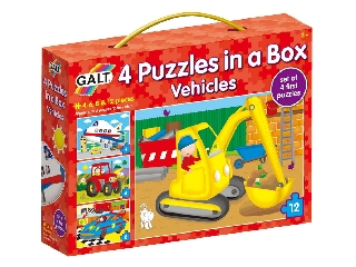 Galt - 4 puzzle egy dobozban járművek