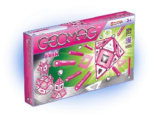 Geomag lányos 104 db - pink-fehér