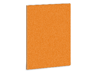 glitter-narancs füzet négyzethálós A/5