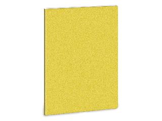 glitter-sárga füzet négyzethálós A/5