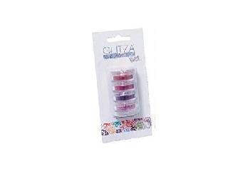 Glitza csillámpor utántöltő 4 tégely (rózsaszín, pink, piros, lila)