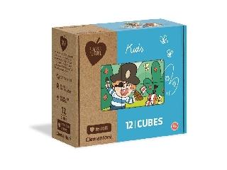 Gyerekek 12 darabos kockakirakó
