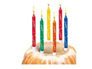 Gyertya / 10 db Happy Birthday