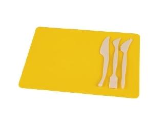 Gyurmatábla készlet, 210x297 mm, Panta Plast - Sárga