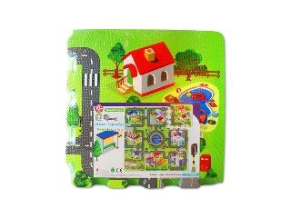 Habszivacs puzzle padlóra, 9 db-os nagyváros