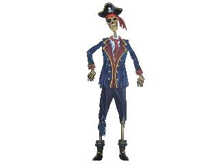 Halloween figura - kalózcsontváz 150 cm