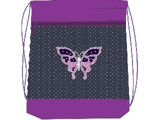 Hálós és zsebes tornazsák - Magical Butterfly - pillangós
