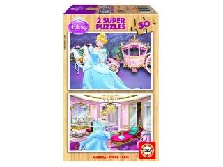 Hamupipőke fapuzzle 2x50 db-os