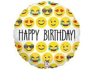 Happy Birthday mosoly fólia lufi - 45 cm