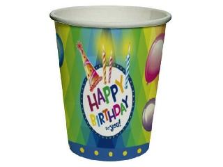 Happy Birthday papírpohár 8 darabos - 250 ml