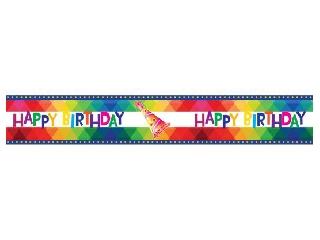 Happy Birthday szalag - 610 x 8 cm