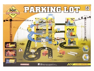 Háromemeletes parkolóház autópályával