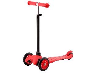 Háromkerekű roller - piros, 68 cm