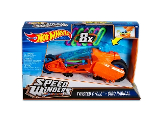 Hot Wheels - Speed Winders Twisted Cycle járgány - narancssárga