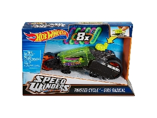 Hot Wheels - Speed Winders Twisted Cycle járgány - sötétszürke