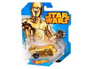 Hot Wheels - Star Wars karakterautók - C-3PO ajándék jubileumi kisautóval