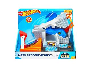 Hot Wheels City - T-rex támadás  közepes pályaszett