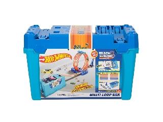 Hot Wheels hurok kihívás pályaszett tároló dobozban