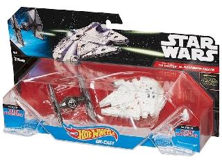 Hot Wheels Star Wars Csillaghajó duo pack Tie fighter vs Millennium falcon
