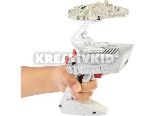 Hot Wheels Star Wars Csillaghajó repülésvezérlő - Ezeréves sólyom, Tie Fighter és Ghost űrhajókkal