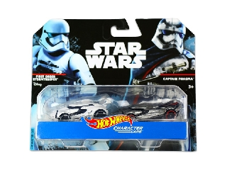 Hot Wheels Star Wars karakter kisautók 2 db-os készlet: First Order Stormtrooper, Captain Phasma