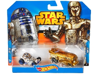 Hot Wheels Star Wars karakterautók - C3PO + R2D2  ajándék jubileumi kiasutóval