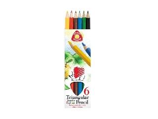 ICO - Háromszögletű színes ceruza készlet - vastag