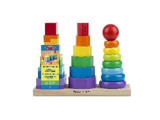 M&D - Fa készségfejlesztő játék - Montessori tornyok