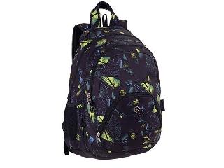 Pulse hátizsák 2in1, notebook tartóval és audió csatlakozóval - fekete-zöld