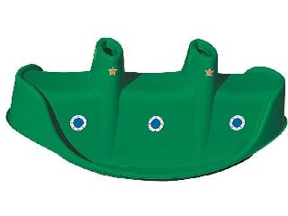 Zöld műanyag tengeralattjáró libikóka