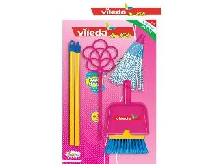 Vileda takarító rózsaszínű szett maxi + poroló
