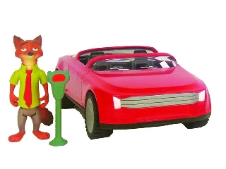 Zootropolis - Állati nagy balhé, járművek szett: Nick kabriója