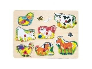 Fa puzzle háziállatos