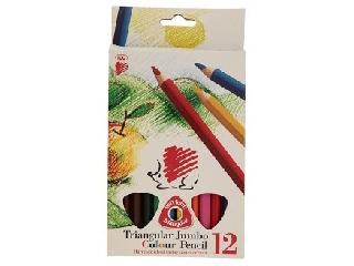 Háromszögletű vastag színes ceruza 12 db-os Ico süni