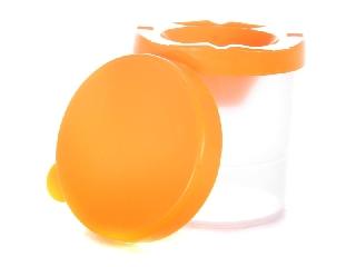Ecsettál narancssárga fedéllel