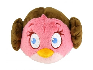 STAR WARS - Angry Birds, plüss, 13 cm, Leia