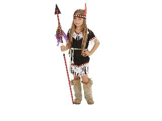 Fekete indiánlány jelmez 104 cm-es