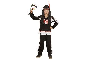 Fekete indiánfiú jelmez 104 cm-es